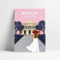 carte postale les allées Béziers