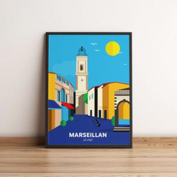 affiche marseillan ville