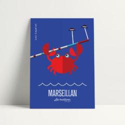 carte postale marseillan vintage