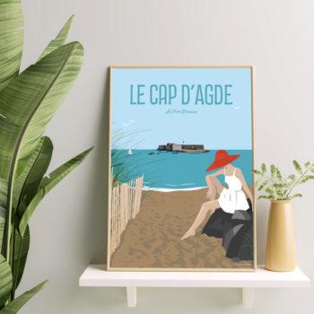 affiche déco Cap d'Agde