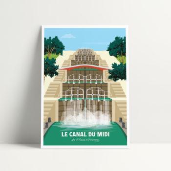 carte postale canal du midi