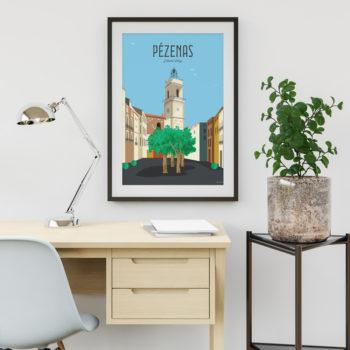 affiche pezenas tableau